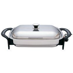 16 Rectangular T304 Stainless Steel Electric Skillet
