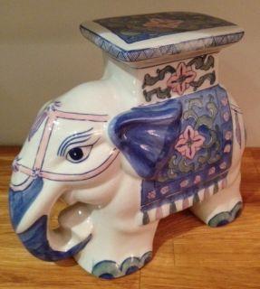 Regency Ceramic Elephant Plant Stand Doorstop Garden Stool SM