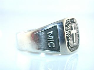 Justice Mercy Humility Sterling Silver Mic 6 Cross Ring