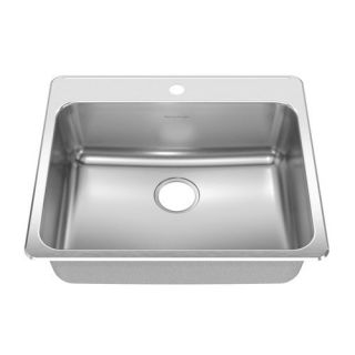 Stainless Steel Drop in Single Bowl Kitchen Sink in Brushed Stainless