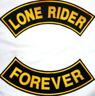 Lone Rider Forever Tough Independent Biker Patch 11x3