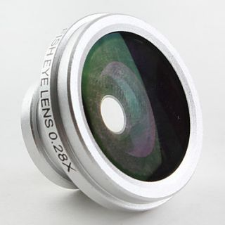 USD $ 23.99   Detachable 0.28x Fish Eye Magnet Lens for iPhone, iPad