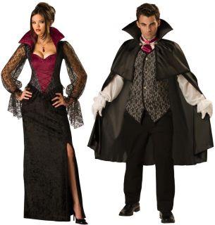 Midnight Vampiress Vampire Adult Couples Costume Set Med Large