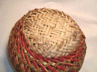 Layer Native American Cherokee Indian River Cane Grass Basket