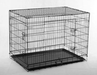 24 30 36 42 48 Wire Folding Pet Crate Dog Cat Cage LC