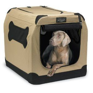 Portable Dog Cat Canvas Training Crate Kennel Cage