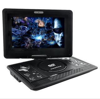 Portable Multimedia DVD Player 10 inch Swivel Screen 16 9 Widescreen