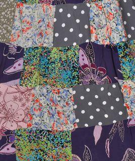 Womens Indian Crape Patchwork Long Skirt Designer Gypsy Hippie Boho