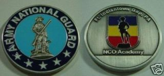 Ft Indiantown Gap PA NCO Academy Army Natl Guard Silver Finish