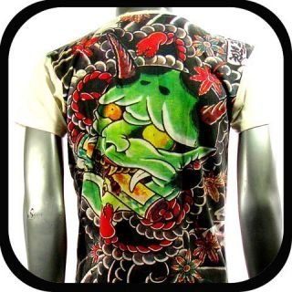 Tattoo T Shirt Devil Mask Graffiti IR6 Sz XL Japanese Indie Rock bmx