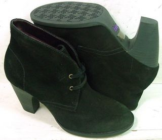 Indigo by Clarks Womens Water Row Black Suede 85964 Ankle Boots Shoes