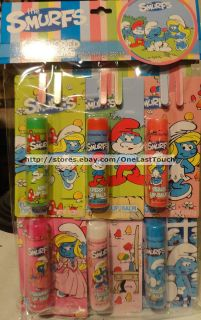 LOTTA LUV Lip Balm THE SMURFS Party Pack Gift Set Lot INDIVIDUAL CARDS