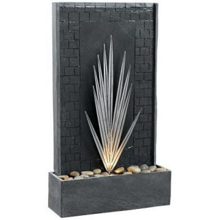 Kenroy Home Plaza Lighted Indoor Outdoor Floor Fountain