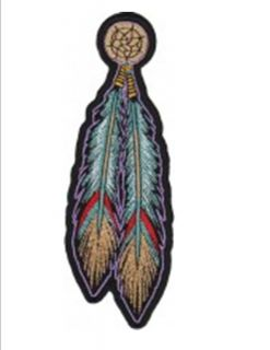 TRIBAL INDIAN FEATHERS Motorcycle Embroidery Patch Wholesale High