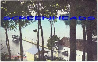 C1907 Indian Lake Beach Near Dowagiac Michigan Postcard