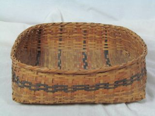 Cherokee Indian River Cane Basket Very Nice Construction