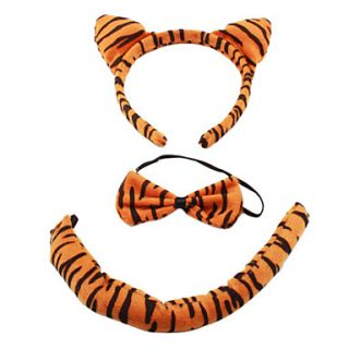 USD $ 2.39   Plush 3 in 1 Lovely Tiger Ear Headband + Bow Tie + Tail