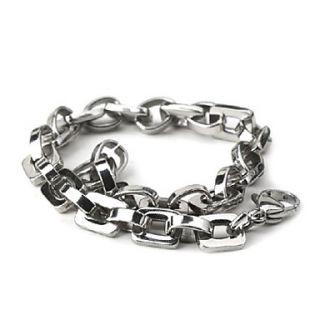 EUR € 5.42   Catena con battistrada in acciaio bracciale in titanio