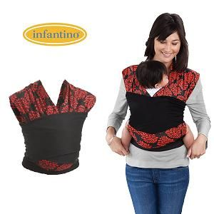 Infantino Sync Comfort Wrap Black Red Baby Infant Carrier New in Box