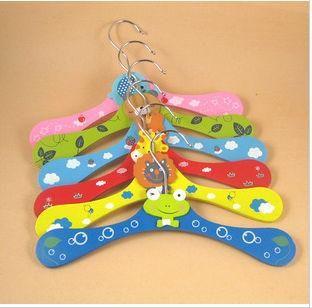 2161 Baby Hangers Animal Cartoon Wooden Hangers Children Hanger