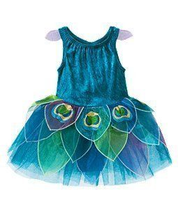 Gymboree Costume 18 24 Infant Toddler Girls Peacock Halloween Dress