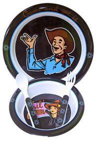 Baby Feeding Set Atomic Cowgirl Punk Goth Toddler Dishes Bowl