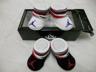 Baby Nike Air Jordan Booties Socks Crib Shoes 0 6M Baby Socks Gift Set