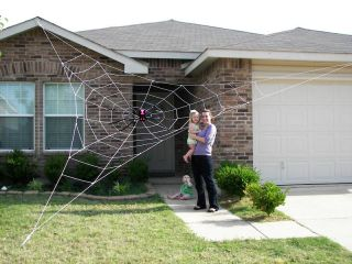 Spider Web Halloween House Yard Prop Decoration Inflatables