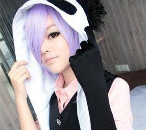 Un Go Inga Brack Short Anime Cosplay Wig Party Hair Light Purple