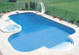 45 x 36 L Shape Inground Steel Swimming Pool Kit 24 Radius