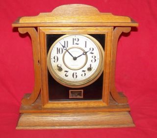 Ingraham Kitchenette Mantle 8 Eight Day Clock