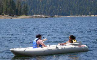 14ft Saturn Inflatable Kayak Boat Kaboat Red SK430