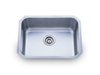 Sinks PL 867 23 Stainless Steel Undermount Single Bowl Kitchen Sink