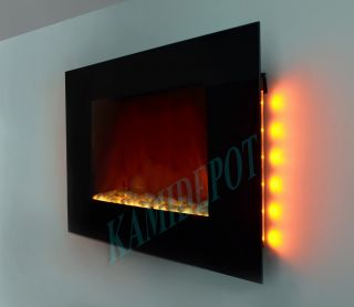 36 inch Wall Mount Modern Electric Fireplace Heater LED Remote Control