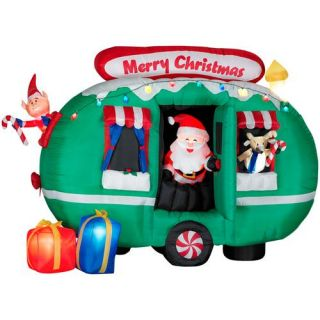 AIRBLOWN INFLATABLE SANTA CHRISTMAS ANIMATED LIGHTED YARD DECORATION