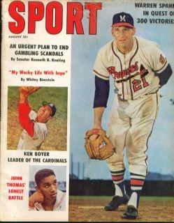 Sport Spahn Ken Boyer Ingemar John Thomas 8 1961