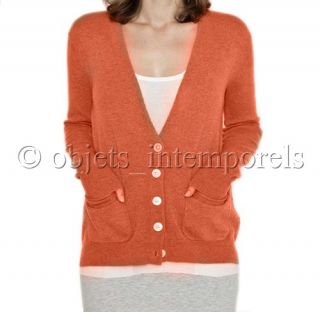 BNWT $420 ($398 + tax) INHABIT cashmere cardigan sweater S NEW 2012
