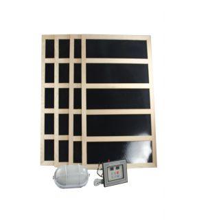 Complete Infrared Sauna Heater Package 1200 Watts