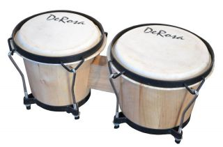 Bongos Mini Conga Drum Set Studio Band Music Instruments Bongo