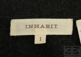 Inhabit Charcoal Grey Cashmere Short Sleeve Open Front Cardigan Size