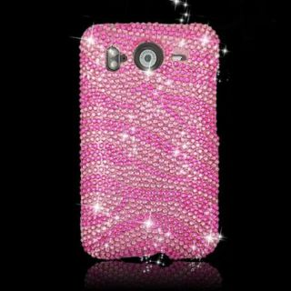 Rhinestone DIAMOND Hot Pink BLING Cover for AT&T HTC INSPIRE 4G Case