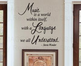 Sticker Art Decor Inspirational Quote Decal Music Stevie Wonder IN59