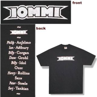 Tony Iommi Solo Peter Steele T Shirt Sabbath XL New