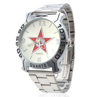 EUR € 6.61   Pentagrama homens Steel Design de pulso de quartzo