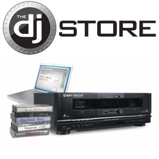 Ion Audio Tape 2 PC USB Dual Cassette Deck Archiver Limited Quantity
