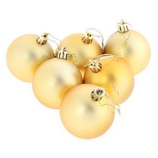 Pack acabado brillante irrompible bolas de Navidad adorno del árbol