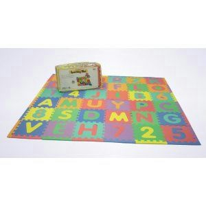 Rainbow Foam Letters Numbers Interlocking Mats 36 Pieces Total