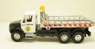 New International Flat Bed Rollback Police Tow Truck Diecast 5 5