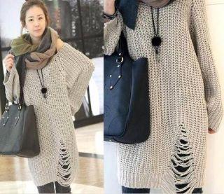 USS L56 Korean Fashion Women Special Hem Knit Top Blouse Outwear
