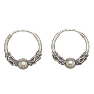 IRISH CELTIC 925 STERLING SILVER WOMEN EAR RINGS ROUND HOOPS FASHION